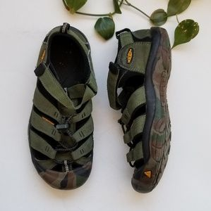 Keen | Green and Camo Hiking Sandals
